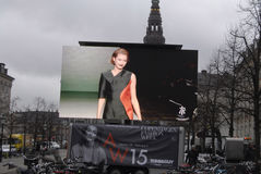 BILLBOARD COPENHAGEN FASHION WEEK Royalty Free Stock Photos