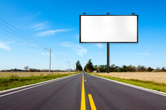 Billboard on Country Road Stock Photo