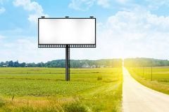 Billboard on Country Road Royalty Free Stock Photo