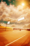 Billboard. On Country Road in China royalty free stock photos