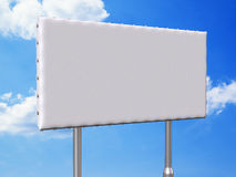 Billboard at day angled. A blank 3 by 6 meters billboard Stock Photos