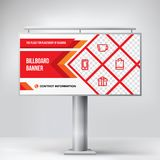 Billboard design, template banner for outdoor advertising, posting photos and text. Modern business concept. Creative background stock illustration