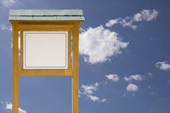 billboard drewniany Obrazy Stock