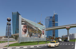 Billboard in Dubai Royalty Free Stock Image