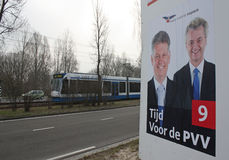 Billboard for the Dutch freedom party Stock Photo
