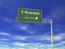 Billboard: E-Business Royalty Free Stock Image