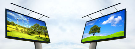 Billboard Ecology Royalty Free Stock Photos