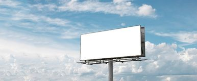 Billboard - Empty billboard in front of beautiful cloudy sky in. Brazil royalty free stock image