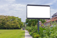 Billboard or empty poster advertise on City Street for new adver. Tisement Stock Photography