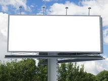 Billboard with empty screen Royalty Free Stock Photography