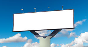 Billboard with empty screen Royalty Free Stock Photos