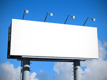 Billboard with empty screen Royalty Free Stock Photo