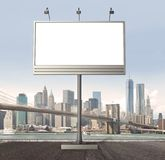 Billboard with empty screen Royalty Free Stock Image