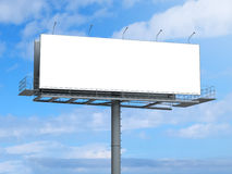 Billboard with empty screen on blue sky Stock Photo