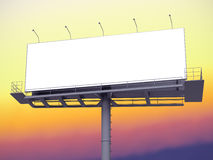 Billboard with empty screen on morning sky Stock Image