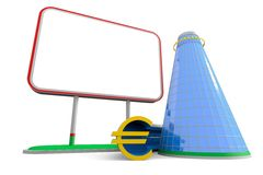 Billboard euro building Royalty Free Stock Photo