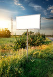 Billboard. In a field near the road stock photo