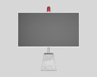 Billboard with flasher, gray background Stock Photo