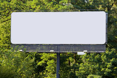 Billboard in Forest Royalty Free Stock Photos