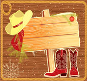 Billboard frame with cowboy hat. Royalty Free Stock Photo
