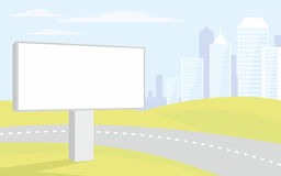Billboard on the freeway Stock Images