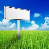 Billboard in the green field stock illustration