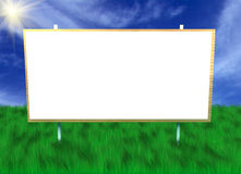 Billboard on green grass Royalty Free Stock Images