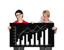 Billboard with growth chart Stock Photo