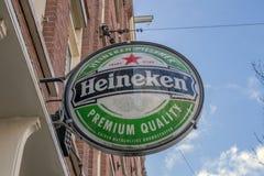 Billboard Heineken Beer Company a Amsterdam i Paesi Bassi 2019 fotografia stock