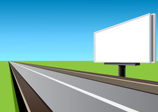 Billboard on the highway. Empty billboard on the highway at day Royalty Free Stock Photos