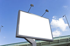 Billboard at highway Royalty Free Stock Image
