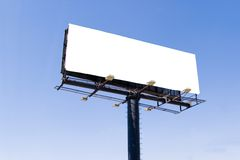 Billboard I. White billboard advertise with clouds put your ad here stock photos