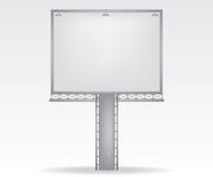 Billboard illustration on white background Stock Images