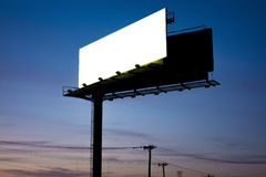 Billboard. An image of a billboard by night royalty free stock images