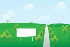 Billboard In Spring Landscape Stock Image