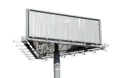Billboard isolated on white background Stock Image