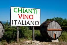 Billboard for Italian wine sales Stock Images