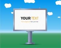 billboard La disposizione per la vostre pubblicità e progettazione Pubblicità della bandiera illustrazione vettoriale