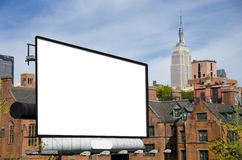 Billboard. A large blank urban billboard with copy space royalty free stock photography