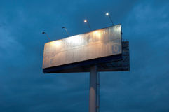Billboard late in the evening Royalty Free Stock Photo