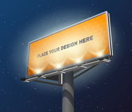 Billboard lighted night image Royalty Free Stock Images