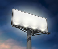 Billboard lighted night image Stock Photography