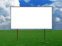 Billboard on a meadow Stock Image