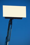 Billboard on mechanical arm Stock Photo