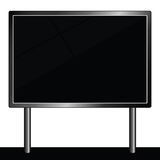 Billboard for message vector illustration in black color Stock Photos