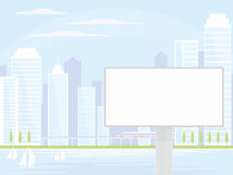 Billboard in the modern city Stock Photo