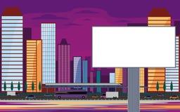 Billboard and modern city Royalty Free Stock Photo