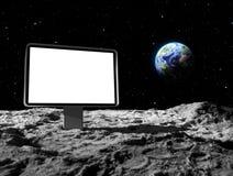 Billboard on moon Stock Photo