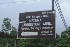 Billboard of Moonstone mine Royalty Free Stock Photography