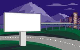 Billboard and mountains Royalty Free Stock Image